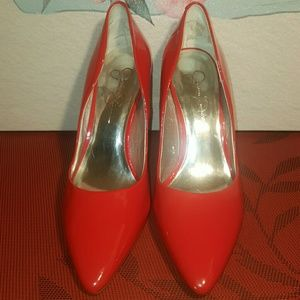 Jessica Simpson Cherry Red Patent Heels